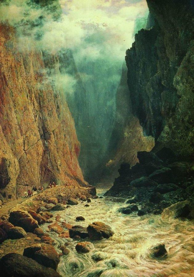 1 Desfiladero de Darial, cuadro de Rufín Sudkosvsky, 1884..jpg