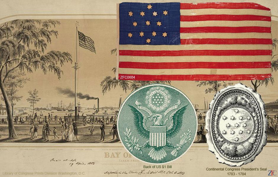 13 Star United States Flag - Great Star in Glory, 1783 - 1790.jpg