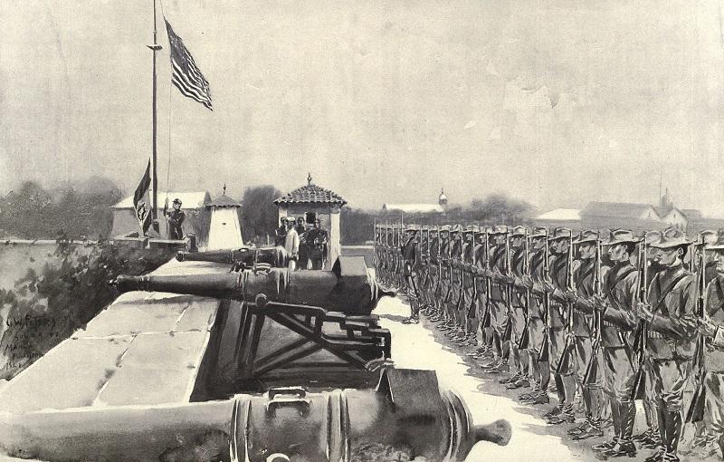 American_flag_raised_over_Fort_Santiago_8-13-1898.jpg