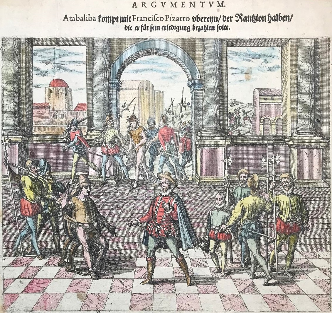 Atahualpa delivering his ransom to Pizarro.jpg