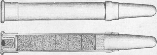 Chassepot Rifle Cartridge that Was Used in the Mitrailleuse..jpg