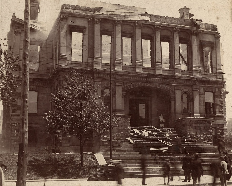Court House, Lexington. Ruins after it burned Spring of 1897-1.jpg