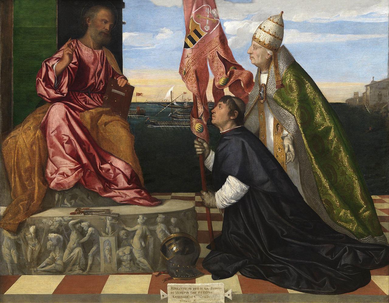 Jacopo_Pesaro_presented_to_St._Peter_by_Pope_Alexander_VI_-_Tizian-2.jpg