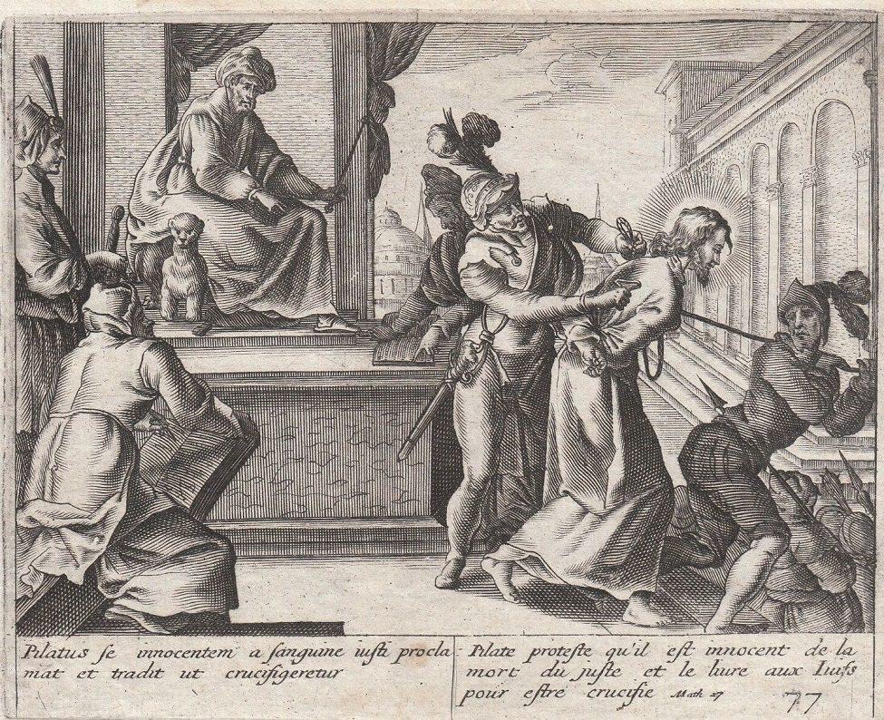 Jollain Passion Jesus Pontius Pilate Engraving Paris 17th Century.jpg