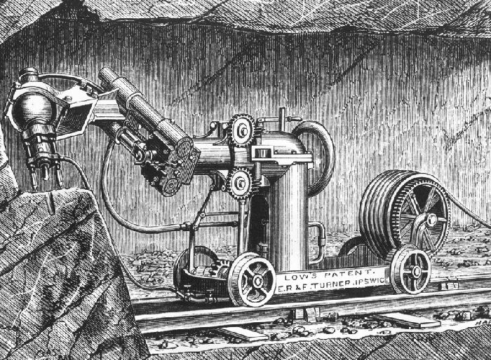 Low's Rock Boring machine built by E R & F Turner of Ipswich.jpg