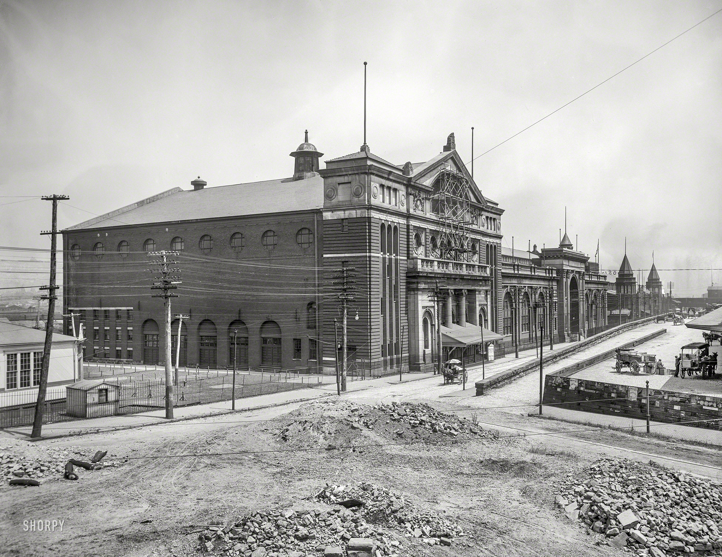 Pittsburgh circa 1902. Exposition Hall. Probably during its reconstruction after a fire the pr...jpg