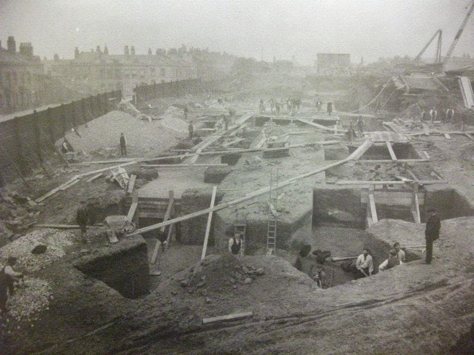 The Anglican Cathedral foundations in 1904.jpg