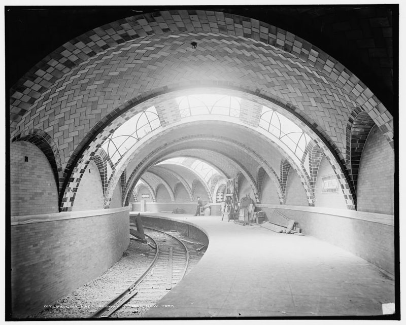 The City Hall station of the IRT Lexington Avenue Line opened on October 27, 1904..jpg