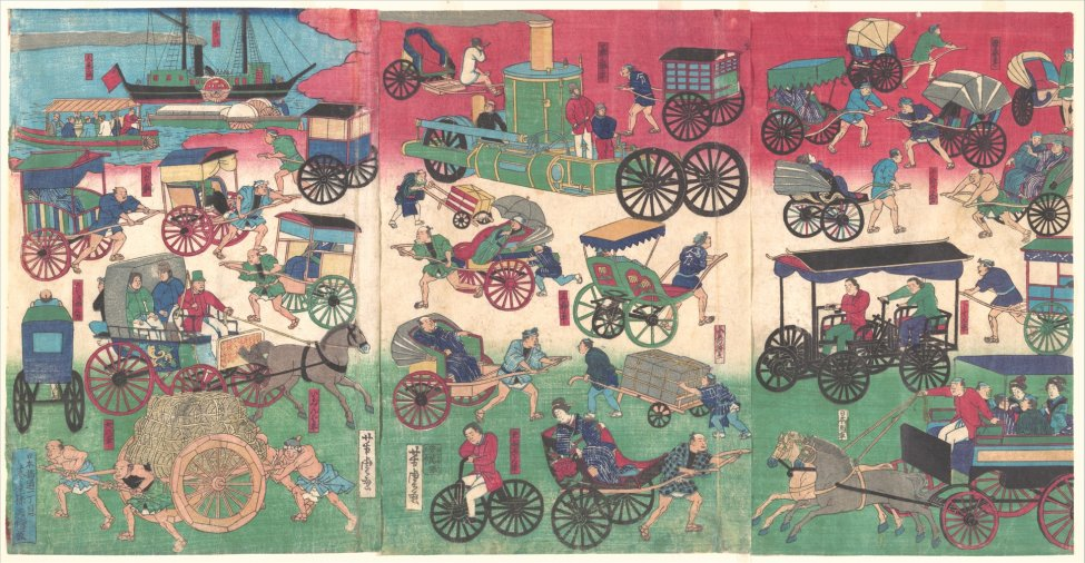Vehicles on the Streets of Tokyo 1870.jpg