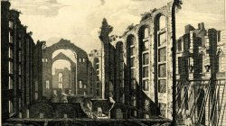 Ruins of Lisbon in 1755. The Opera House.