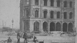 Tribune Building. Corner of Dearborn and Madison after the Great Chicago Fire, 1871