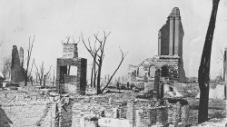 The ruins of the Chicago Historical Society building. 1871