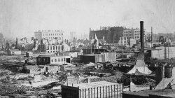 1871 Chicago. Reconstruction begins a few weeks after the fire
