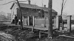 1871 Chicago. The undamaged O'Leary cottage, near the origin point of the fire