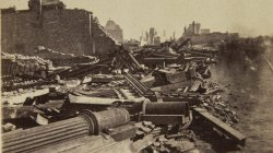 Chicago Fire of 1871: Corner of Randolph and Wells Street