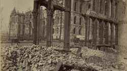 Chicago Fire of 1871: Court House Through Ruins of Fifth National Bank