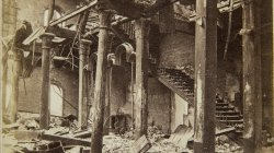 Chicago Fire of 1871: Interior of Post Office