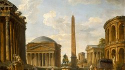 Roman Capriccio. The Pantheon and Other Monuments