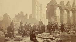 Boston Fire of 1872. The Corner of Perkins and Pearl Streets