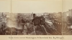 Boston Fire of 1872. View from Washington & Bromfield