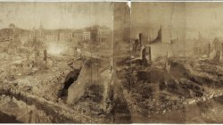 Boston Fire of 1872. City ruins after the fire